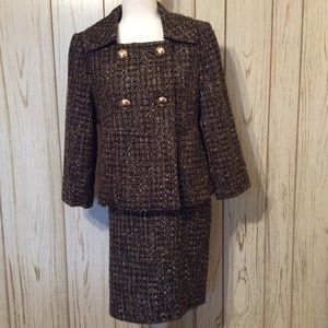 Chaus Tweed with Gold Button's Business Suit